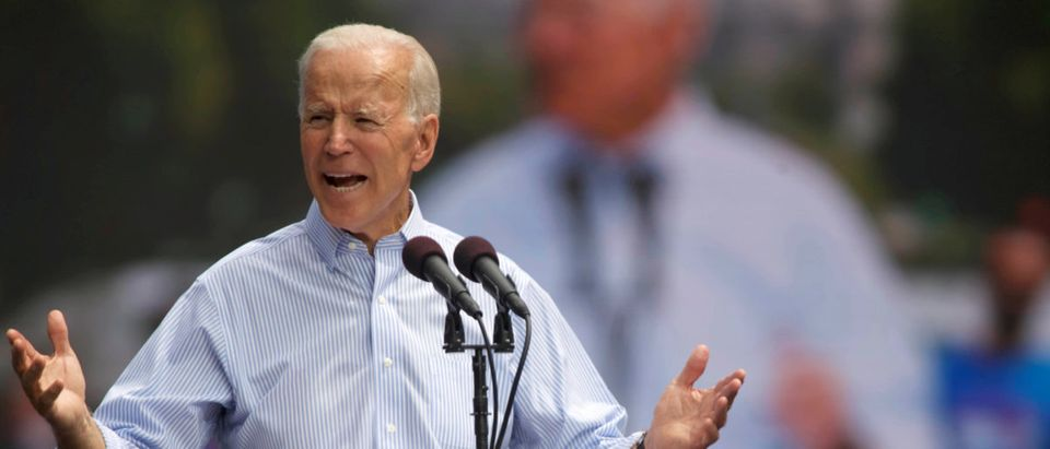 FILE PHOTO: Democratic 2020 U.S. presidential candidate and former Vice President Joe Biden speaks during a campaign stop in Philadelphia