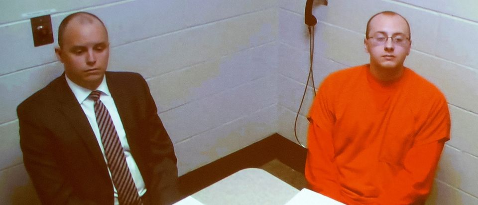 FILE PHOTO: Jake Patterson, 21, who pleaded guilty to kidnapping 13-year-old Jayme Closs and murdering her parents, appears via live video from jail, wearing an orange jumpsuit, during his first court appearance in Barron, Wisconsin, U.S., January 14, 2019. Richard Tsong-Taatarii/Minneapolis Star Tribune/Pool via REUTES/File Photo