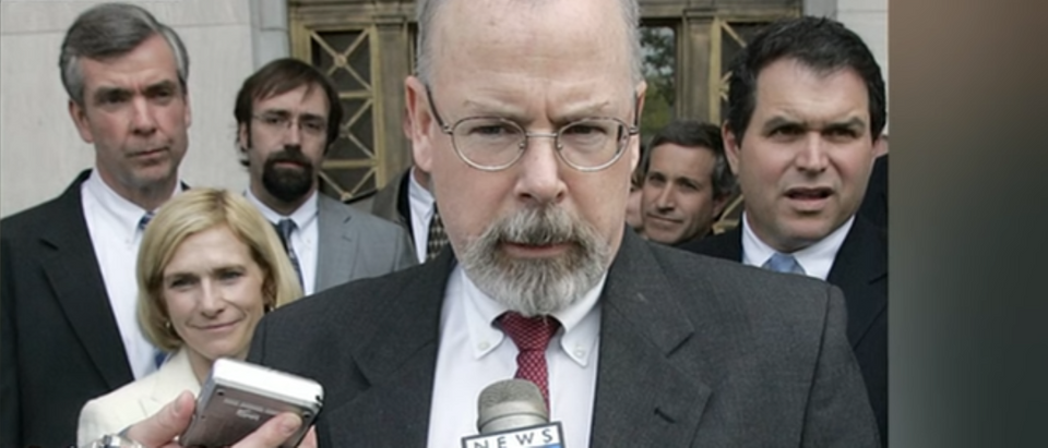 Attorney General William Barr reportedly assigned U.S. Attorney John H. Durham to investigate the origins of the Russia investigation. (Screenshot of Fox News Youtube Video, John Durham.)