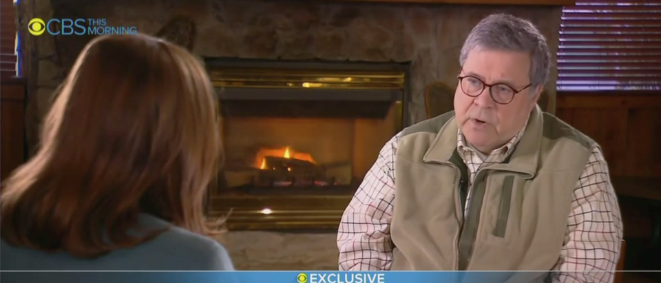 Attorney General Bill Barr Interview on CBS 'This Morning' (CBS Screenshot)