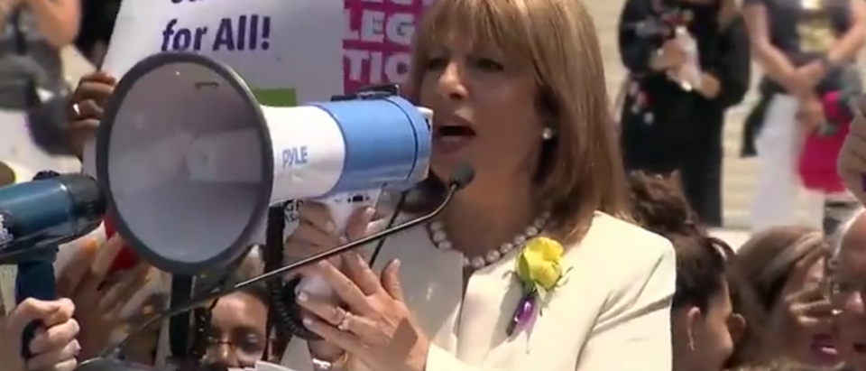 Crowd Cheers As California Rep. Jackie Speier Shouts Her Abortion