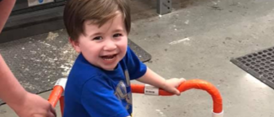 Home Depot Employees Help Build Two-Year-Old A Walker