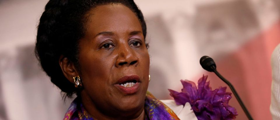 Rep. Sheila Jackson Lee (D-TX) speaks at a press conference about a House resolution designed to prevent President Donald Trump from firing Special Counsel Robert Mueller on Capitol Hill in Washington, U.S., July 27, 2017. REUTERS/Aaron P. Bernstein