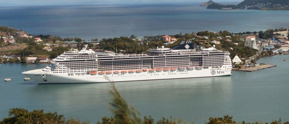 Cruise ship seen on Castries Port, Saint Lucia on February 6, 2019 (DANIEL SLIM/AFP/Getty Images)