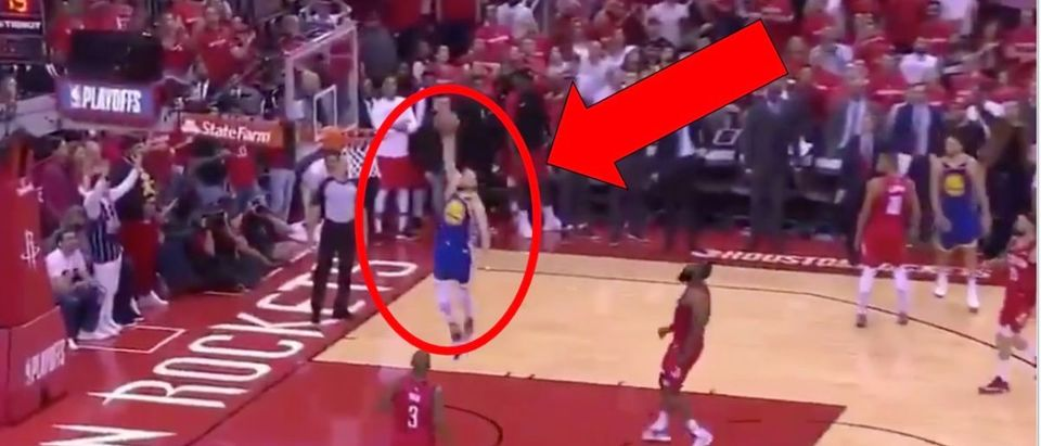 Steph Curry (Credit: Screenshot/Twitter Video https://twitter.com/Troydan/status/1124878424651251712)