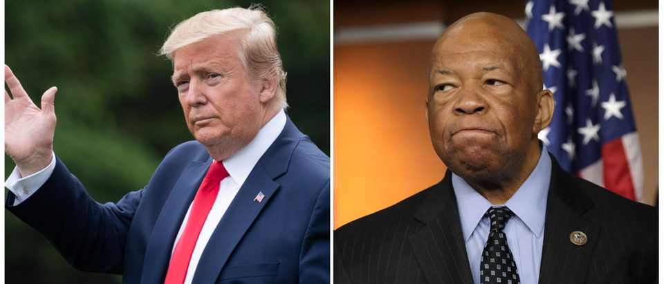 (L) President Donald Trump (R) U.S. Rep. Elijah Cummings, chair of the House Oversight Committee. (Getty Images)