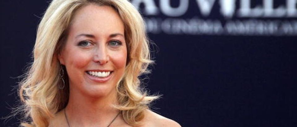 """US screenwriter Valerie Plame Wilson poses for photographer as she arrives for the screening of the movie """"Fair Game"""" presented out of competition at the 36th American Film Festival, in Deauville, northwestern France, on September 9, 2010. AFP PHOTO / FRANCOIS GUILLOT (Photo credit should read FRANCOIS GUILLOT/AFP/Getty Images)"""