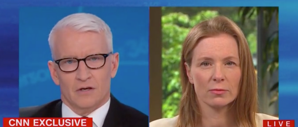 Anderson Cooper challenged Facebook VP over doctored Pelosi video. Screen Shot/CNN