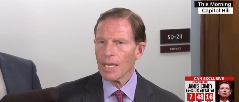 Democratic Connecticut Sen. Richard Blumenthal discusses Trump Jr. subpoena. Screen Shot/CNN