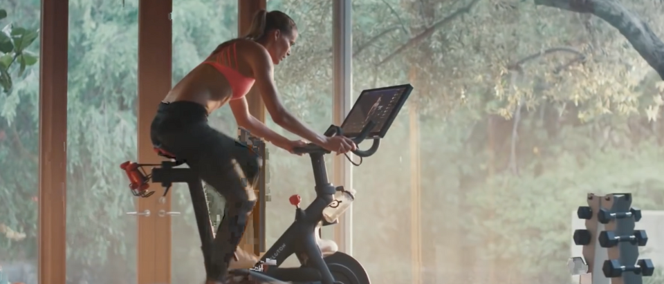 Peloton stationary bicycle ad/Screen Shot/YouTube
