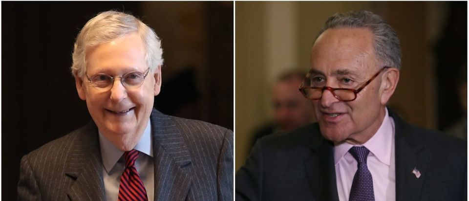 Left: Mitch McConnell (Getty Images), Right: Chuck Schumer (Getty Images)