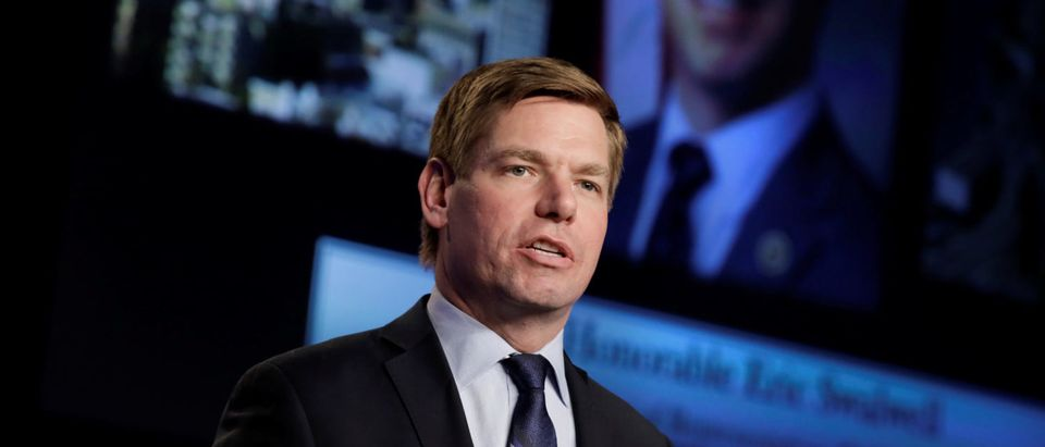 Representative Eric Swalwell speaks at NABTU legislative conference in Washington