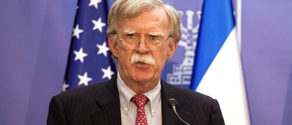 U.S. National Security Advisor John Bolton delivers joint statements with Israeli Prime Minister Benjamin Netanyahu in Jerusalem