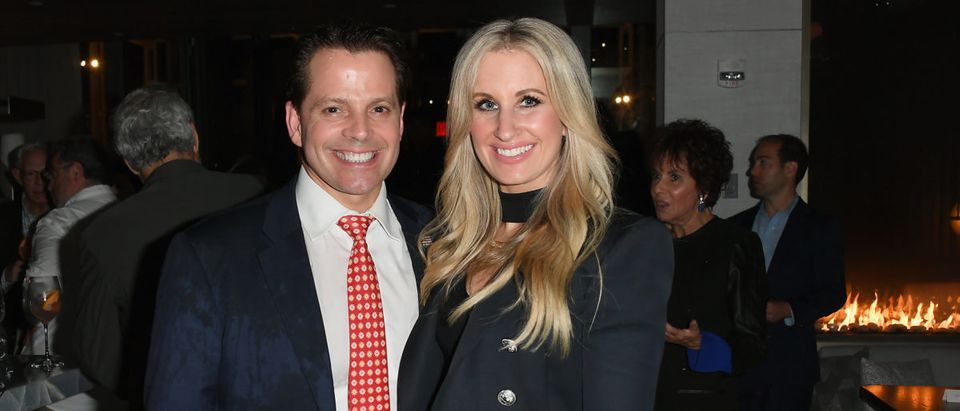 """Anthony Scaramucci and Deidre Ball at """"Pavarotti"""" New York Screening After Party (Photo by Nicholas Hunt/Getty Images)"""