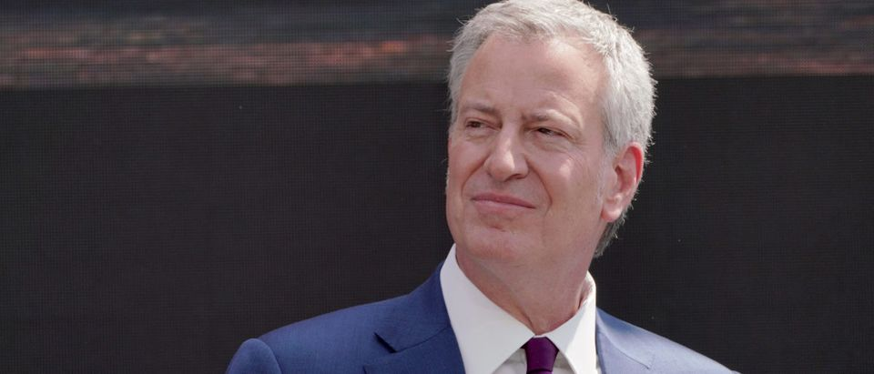New York City Mayor Bill de Blasio speaks onstage during the Statue of Liberty Museum Dedication Ceremony at Statue of Liberty Museum (Jemal Countess/Getty Images for Statue of Liberty -Ellis Island Foundation)