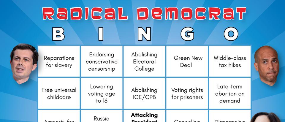 Democratic Debate Bingo