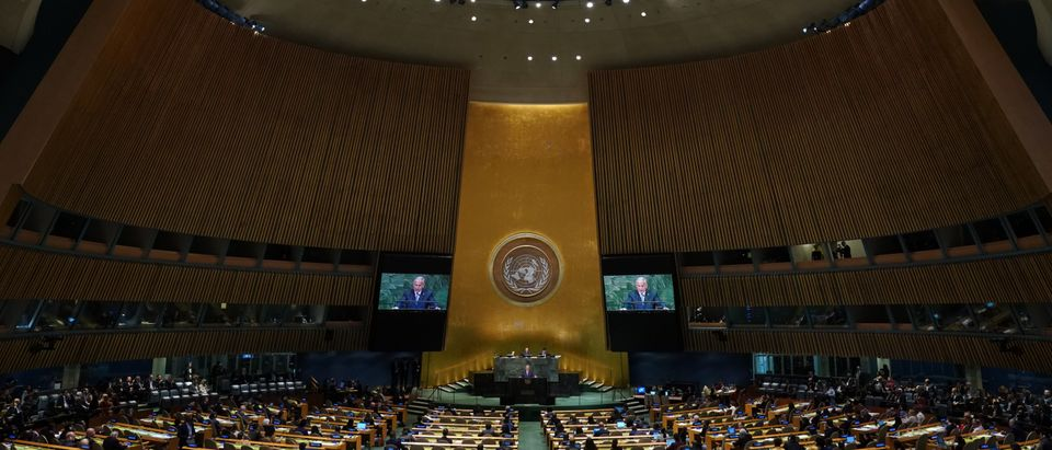 The General Assembly at the United Nations in New York is pictured on September 27, 2018. (TIMOTHY A. CLARY/AFP/Getty Images)