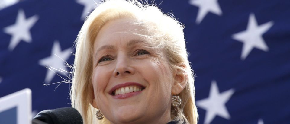 Democratic presidential candidate U.S. Sen. Kirsten Gillibrand speaks during a rally in front of Trump International Hotel & Tower on March 24, 2019 in New York City. (Kena Betancur/Getty Images)