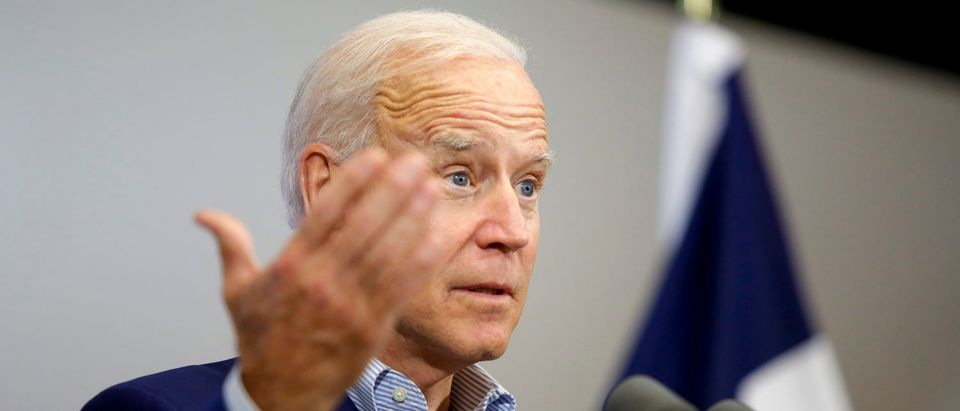 Former vice president and 2020 Democratic presidential candidate Joe Biden speaks during a campaign event on June 11, 2019 in Davenport, Iowa. (Joshua Lott/Getty Images)