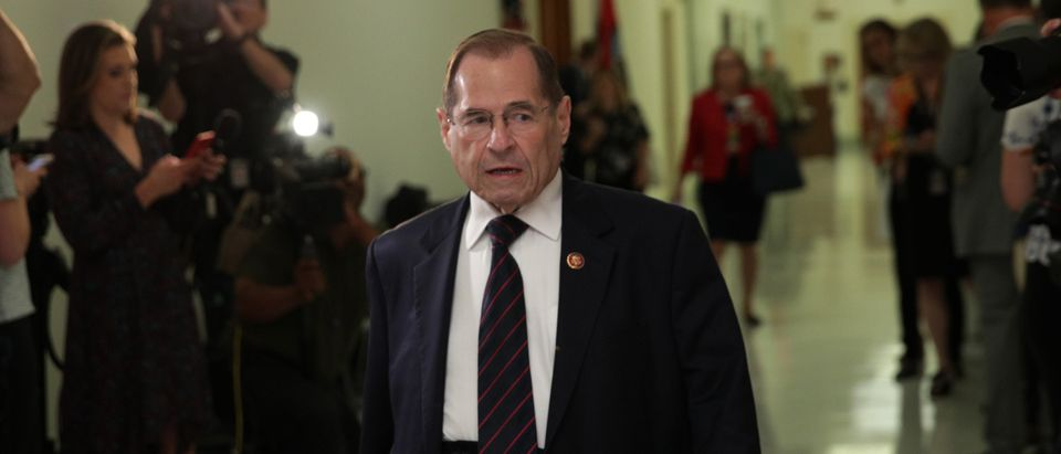 Rep. Jerry Nadler arrives ahead of former White House communications director Hope Hicks being interviewed behind closed door with the House Judiciary Committee on June 19, 2019 (Alex Wong/Getty Images)