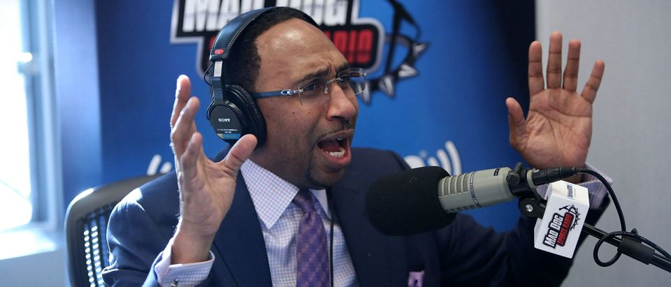 Stephen A. Smith Hosts SiriusXM Show From Wharton (Photo by Bill McCay/Getty Images for SiriusXM)