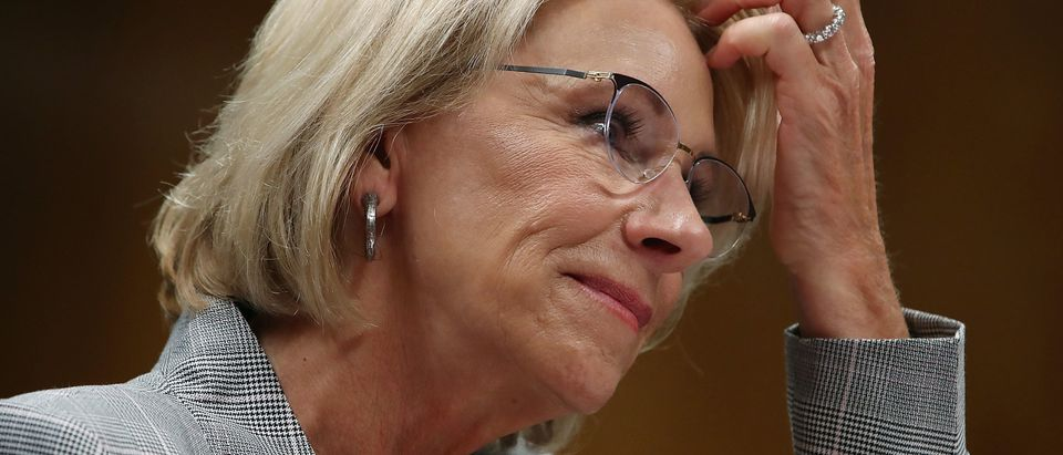 Education Secretary Betsy DeVos Testifies To Senate Appropriations Committee On Department's Budget