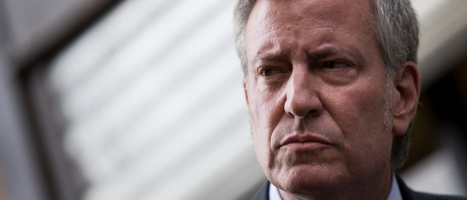 Mayor De Blasio Holds News Conference Outside Foster Facility Believed To Have Housed Immigrant Children Separated From Parents