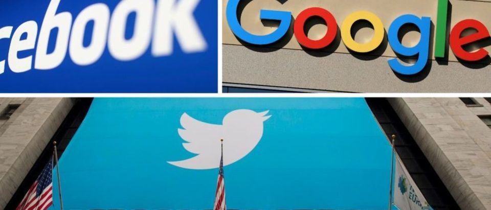 Facebook, Google and Twitter logos are seen in this combination photo from Reuters files. REUTERS//File Photo