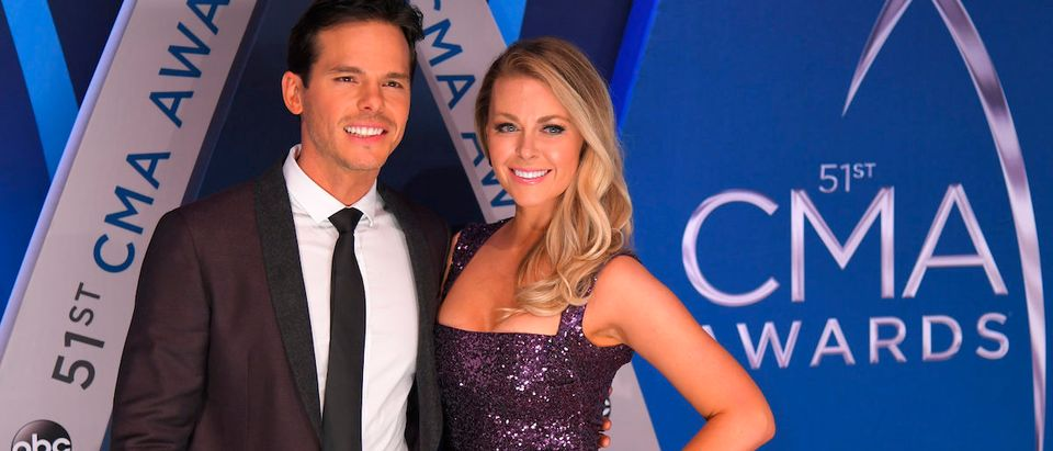 51st Country Music Association Awards Arrivals - Nashville, Tennessee, U.S., 08/11/2017 - Granger Smith and Amber Bartlett. REUTERS/Harrison McClary