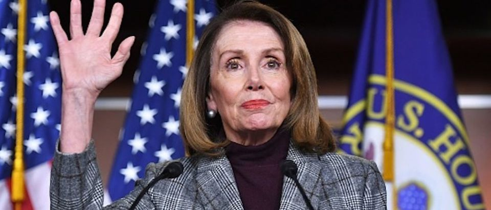 House Speaker Nancy Pelosi (D-CA), speaks during a weekly press conference at the US Capitol in Washington, DC on February 28, 2019