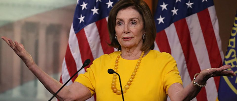House Speaker Nancy Pelosi (D-CA) speaks during her weekly news conference on Capitol Hill, June 20, 2019 in Washington, DC