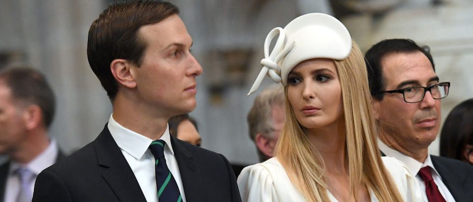 Ivanka Trump and Jared Kushner are seen at Westminster Abbey as part of their state visit in London, Britain June 3, 2019. Stefan Rousseau/Pool via REUTERS
