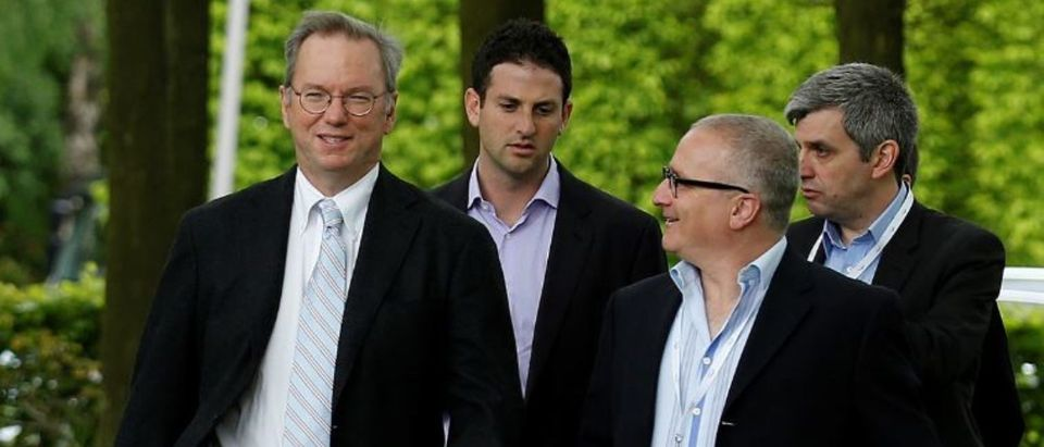 Google Executive Chairman Eric Schmidt (L) and Jared Cohen, director of Google Ideas, arrive at the Google Big Tent event at the Grove Hotel, on the outskirts of London May 22, 2013. REUTERS/Olivia Harris