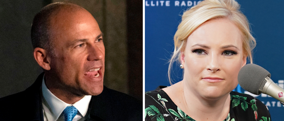 Michael Avenatti (Don Emmert-AFP-Getty) Meghan McCain (Cindy Ord-Getty)
