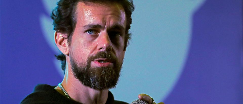 Twitter CEO Jack Dorsey addresses students during a town hall at the Indian Institute of Technology (IIT) in New Delhi