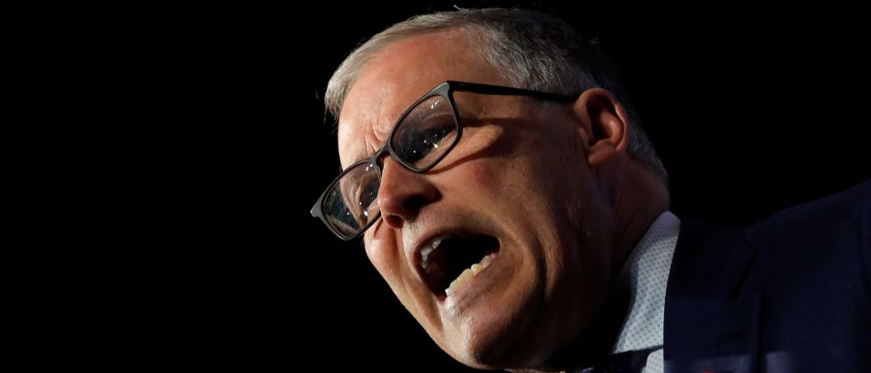 U.S. 2020 Democratic presidential candidate and Governor Jay Inslee participates in a moderated discussion at the We the People Summit in Washington