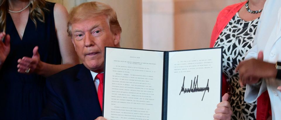 U.S. President Trump signs Executive Order on Healthcare