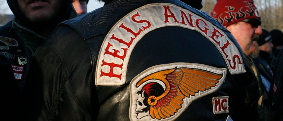 Members of motorcycle gang 'Hell's Angels' wait for a trial. Two members of motorcycle gang 'Bandidos' are accused of having murdered a member of 'Hell's Angels' in early summer in western town of Ibbenbueren. (Ina Fassbender (GERMANY)/Reuters)