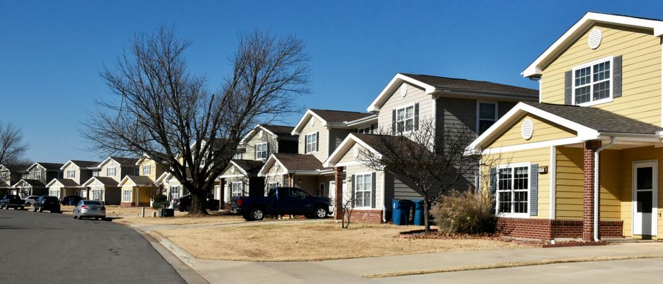 Some of the newer housing where mold has been found is seen at Tinker Air Force Base