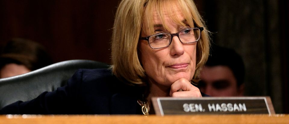 U.S. Senator Maggie Hassan (D-NH) listens as acting Homeland Security Secretary Kevin McAleenan testifies before the Senate Homeland Security and Governmental Affairs Committee in Washington, U.S., May 23, 2019. REUTERS/James Lawler Duggan