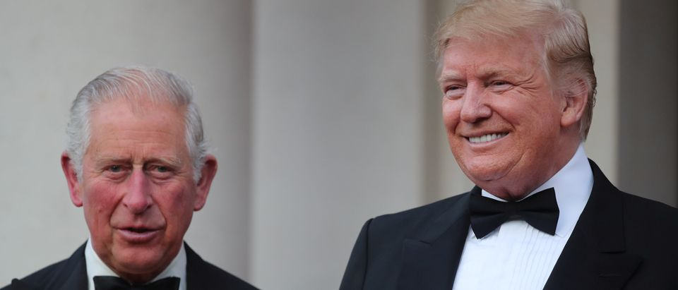 Britain's Prince Charles and U.S. President Donald Trump are seen at Winfield House during Trump's state visit in London, Britain, June 4, 2019. REUTERS/Alkis Konstantinidis