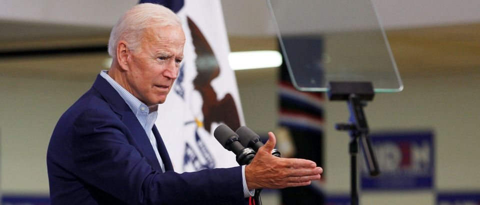 Democratic 2020 U.S. presidential candidate and former Vice President Joe Biden speaks at an event at the Mississippi Valley Fairgrounds in Davenport, Iowa, U.S. June 11, 2019. (Reuters/Jordan Gale)