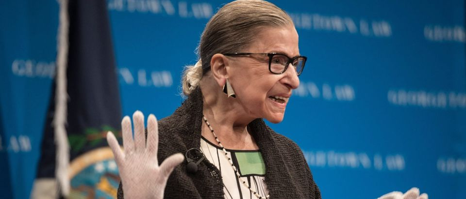 Justice Ruth Bader Ginsburg arrives to speak at Georgetown University on September 20, 2017.(Nicholas Kamm/AFP/Getty Images)