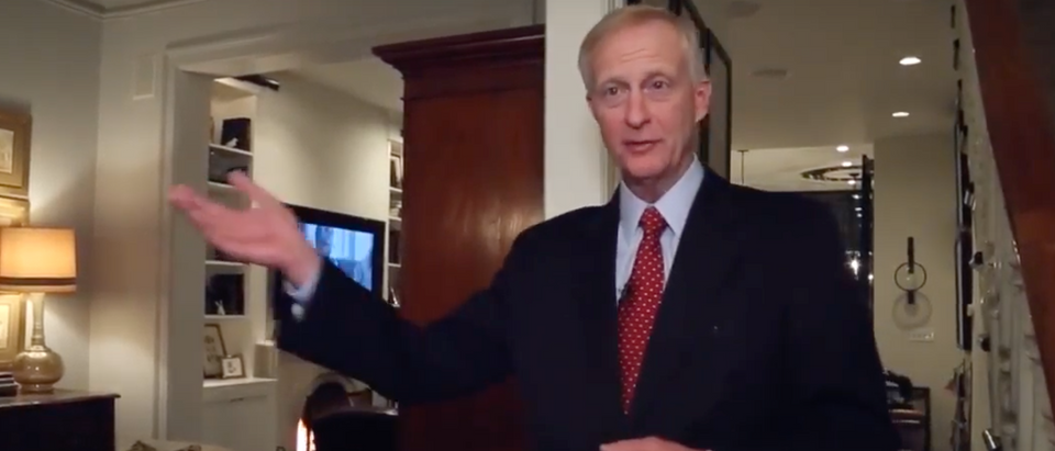 FBI agents raided D.C. Councilman Jack Evans' Georgetown home Friday morning. (Screenshot Washington Post YouTube)