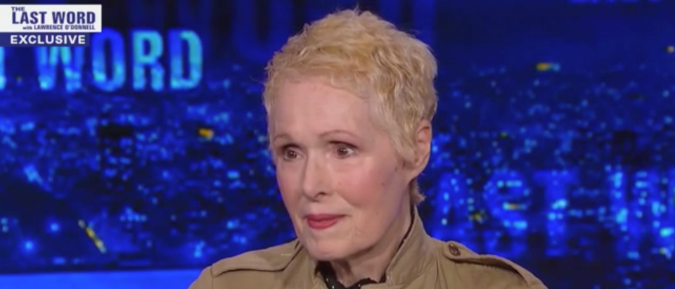"E. Jean Carroll speaks on MSNBC'S ""The Last Word With Lawrence O'Donnell"" about accusations that President Donald Trump raped her. (Screenshot MSNBC ""The Last Word With Lawrence O'Donnell"")"