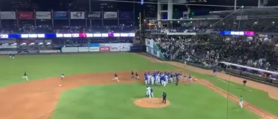 Benches Clear After Bunt Breaks Up No-Hitter