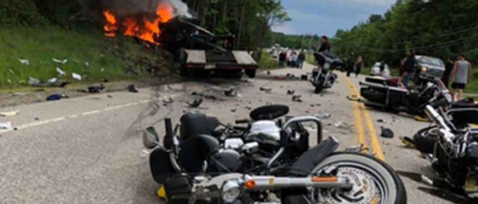 7 Dead, 3 Injured In Deadly New Hampshire Motorcycle Crash Photo Credit: Twitter/screenshot/WMUR TV/https://twitter.com/WMUR9/status/1142229088318480384