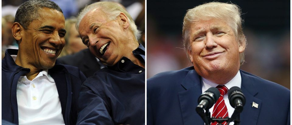 Biden and Obama vs. Trump side-by-side/ Getty Images collage