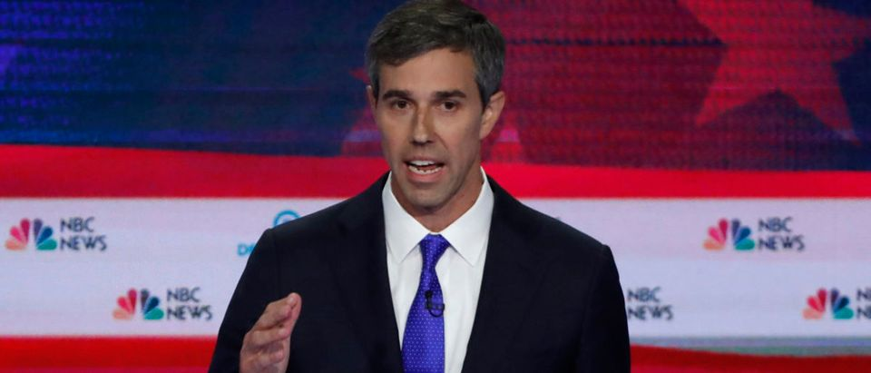 Former U.S. Rep. Beto O'Rourke speaks at the first U.S. 2020 presidential election Democratic candidates debate in Miami, Florida, U.S.,
