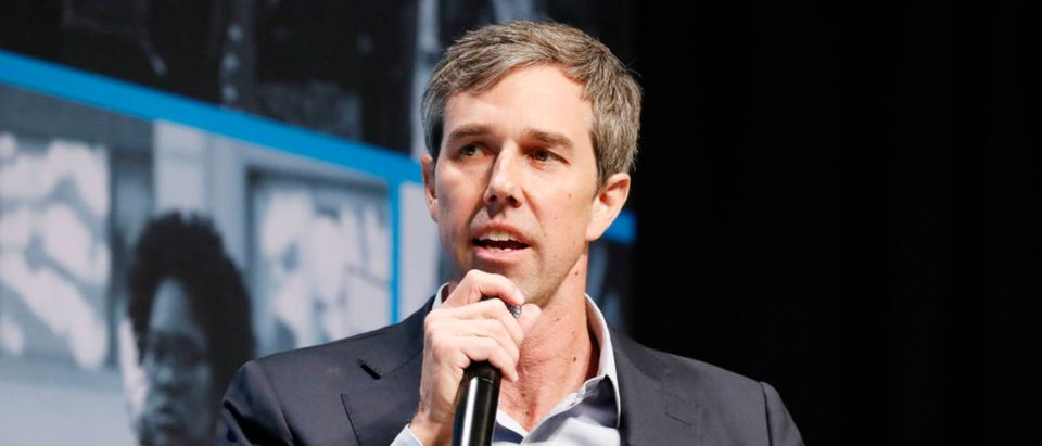 Beto O'Rourke speaks onstage at the MoveOn Big Ideas Forum at The Warfield Theatre on June 1, 2019 in San Francisco, California. (Kimberly White/Getty Images for MoveOn)
